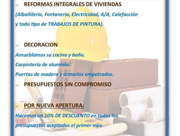 REFORMAS Y DECORACION A SU MEDIDA