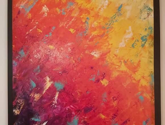 Cuadro abstracto decorativo al acrílico