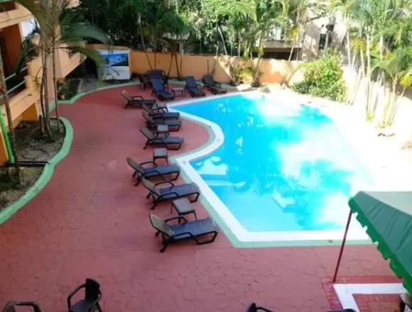 Hotel con 40 habitaciones en Boca Chica