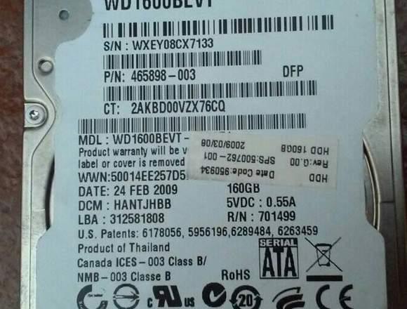 Disco Duro para Laptop Sata de 160GB