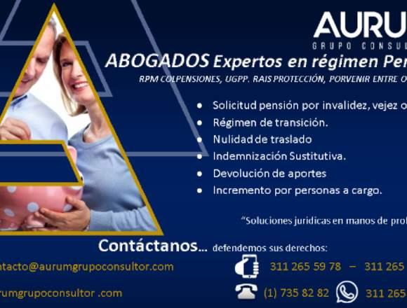 Abogados, Colpensiones Régimen pensional