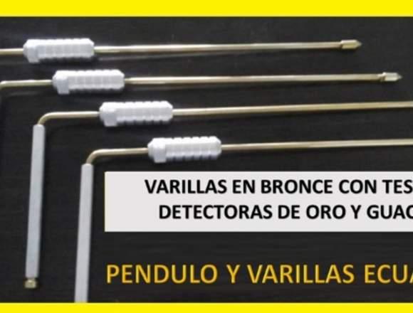 PÉNDULO DE BRONCE CON DOBLE TESTIGO ( 7 METALES )