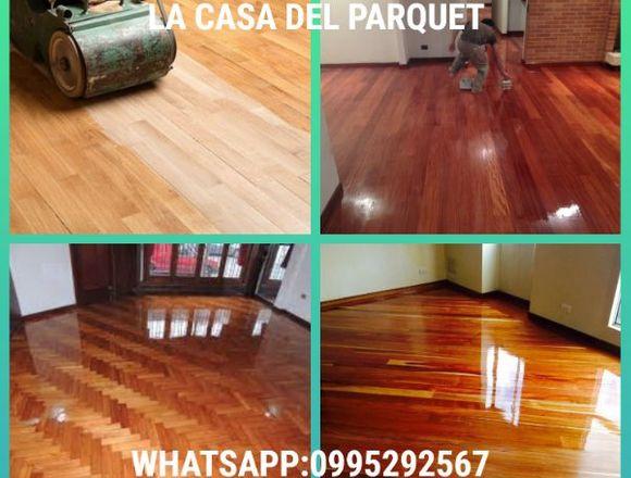 Pulida y lacada de piso de madera $6