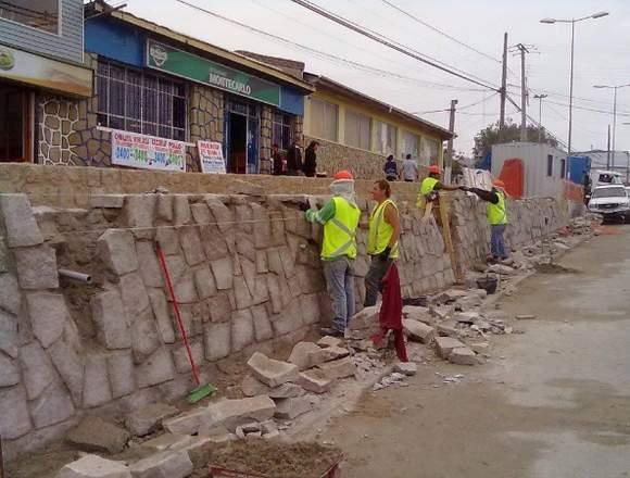 Muro contención y mampostería toda v quinta región
