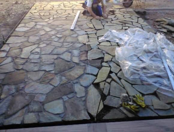 Venta e instalación de piedra laja oxidada