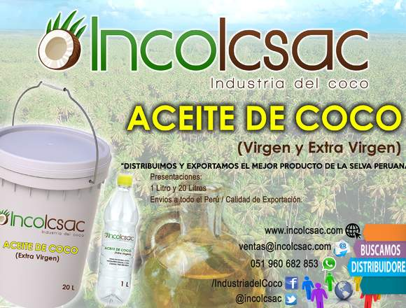 ACEITE DE COCO VIRGEN Y EXTRA VIRGEN