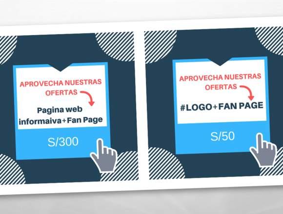 diseño de fan page, paginas web  mas
