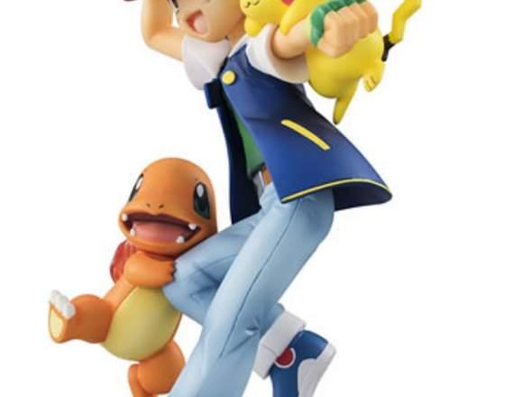 Figura de Pokemon Ash Ketchum, Pikachu, Charmander