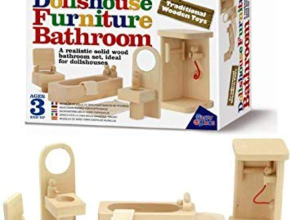 Entretenido Juguete De Madera Muebles De Baño