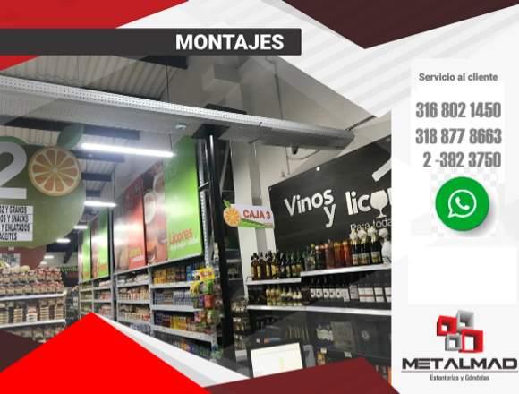 Góndolas, exhibidores y estanterías Supermercados