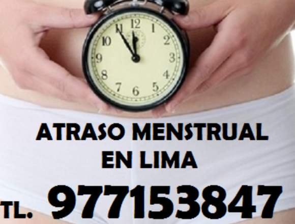 Atraso Menstrual Solucion Los Olivos