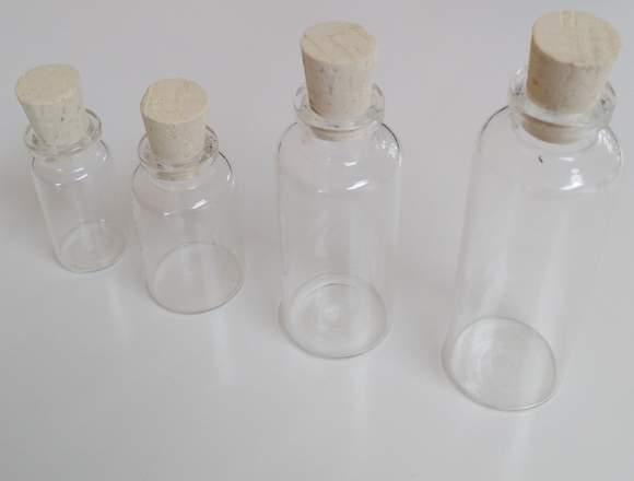 Mini flascos de vidrio