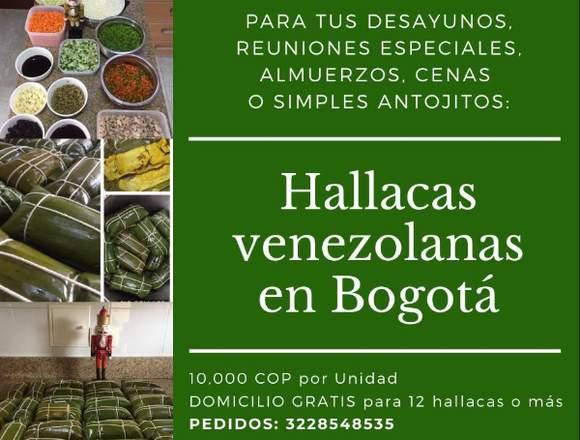 Hallacas venezolanas en Bogotá