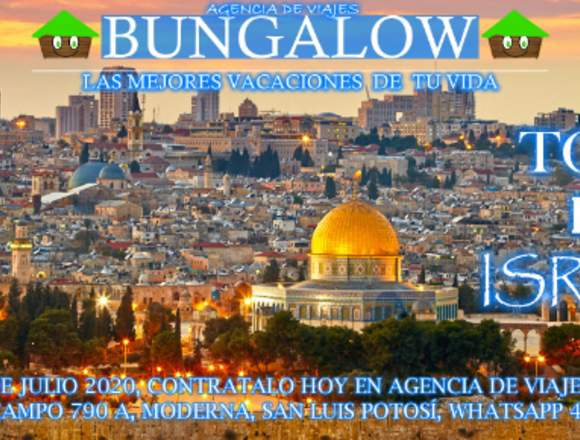 Tour por Israel 3a semana de Julio 2020