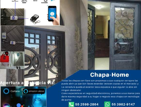 Chapa-home Electromecánica Para Puertas Portones