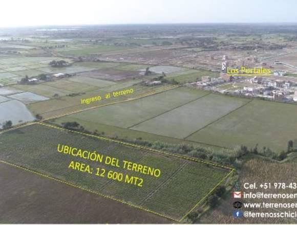 TERRENO DE 12600 M2 ,Carretera a Pimentel