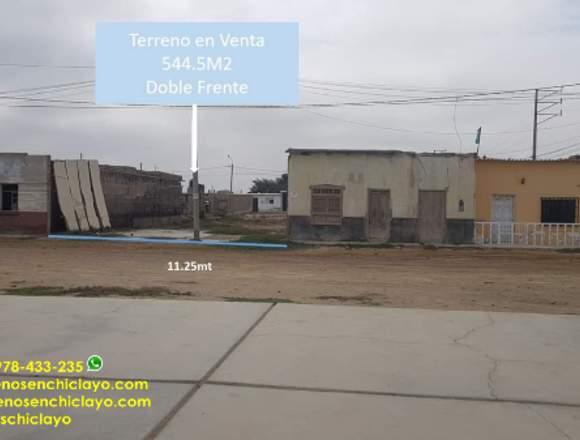 EXCELENTE TERRENO DE 544 M2 , FRENTE A PUERTO ETEN