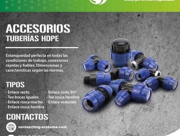 ACCESORIOS DE TUBERÍAS HDPE