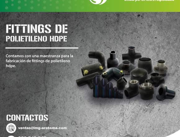 FITTINGS DE POLIETILENO HDPE / ENVÍOS A PROVINCIA