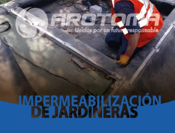 INSTALACIÓN DE IMPERMEABILIZACIÓN DE JARDINERAS