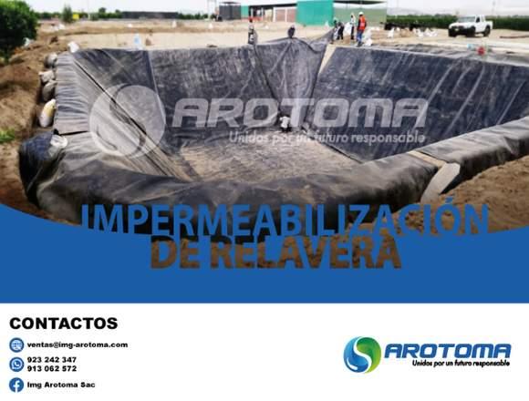 IMPERMEABILIZACIÓN DE RELAVERA - IMG AROTOMA