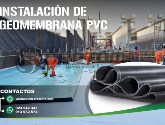 SERVICIO DE INSTALACIÓN CON GEOMEMBRANA PVC