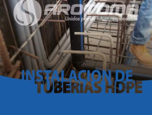 INSTALACIÓN DE TUBERÍAS HDPE PARA AGUA POTABLE