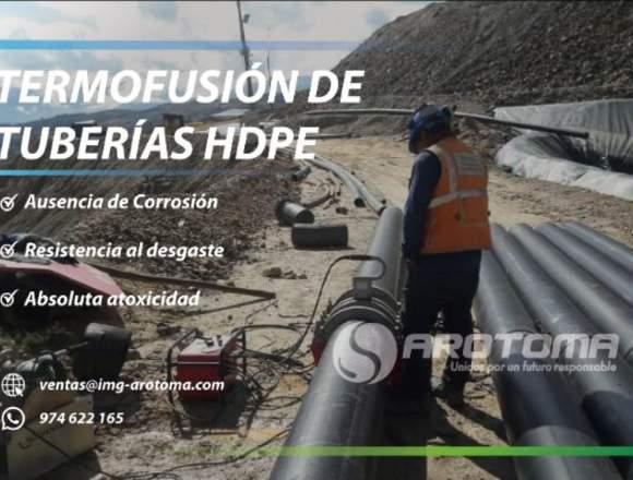 Instalamos TERMOFUSIÓN DE TUBERÍAS HDPE, PP Y CPVC