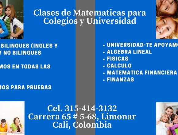 Tutorías para Estudiantes de Colegio y Universidad