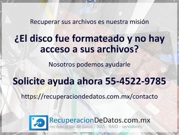 Recuperacion de datos de discos duros dañados