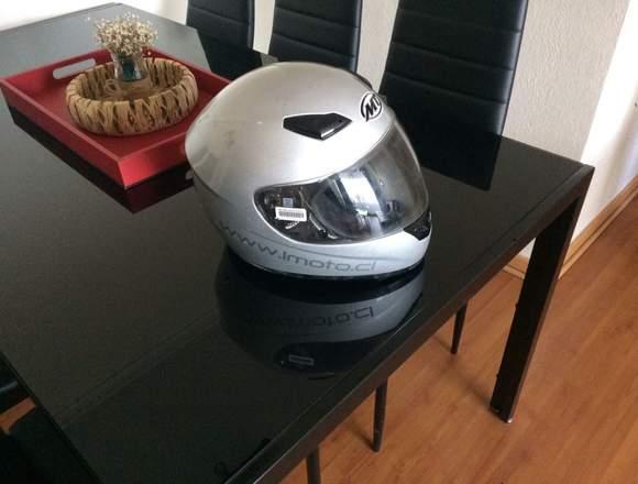 Casco Integral de moto gris