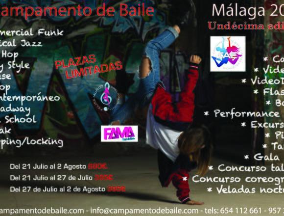 CAMPAMENTO DE BAILE MODERNO MALAGA 2019