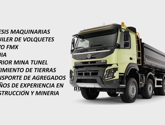 ALQUILER DE VOLQUETES VOLVO SCANIA TODO PERU