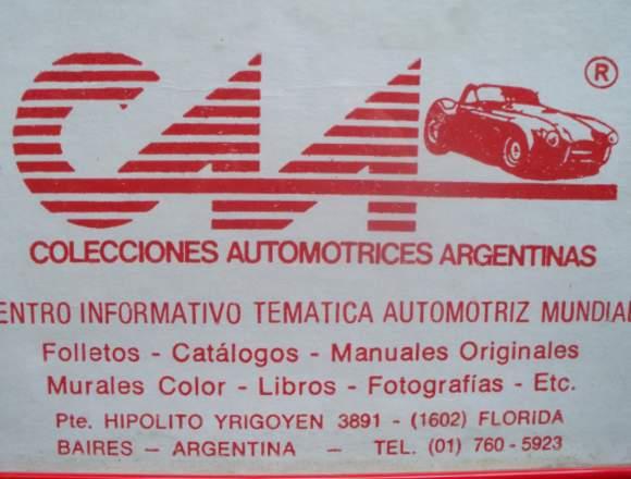 ***  AUTOMOBILIA C.A.A.* MANUALES AUTOS ANTIGUOS