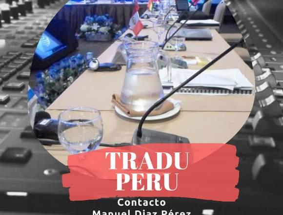 TRADU PERU Cel. 993422523 Equipos e intérpretes