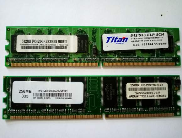 MEMORIAS RAM DDR2 LAPTOP 1 GB