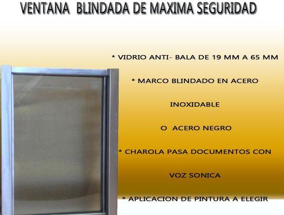 VENTANILLA BLINDADA DE MAXIMA SEGURIDAD