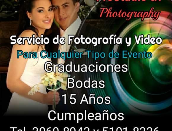 Fotografía y Video 15, Años, Boda, Graduación