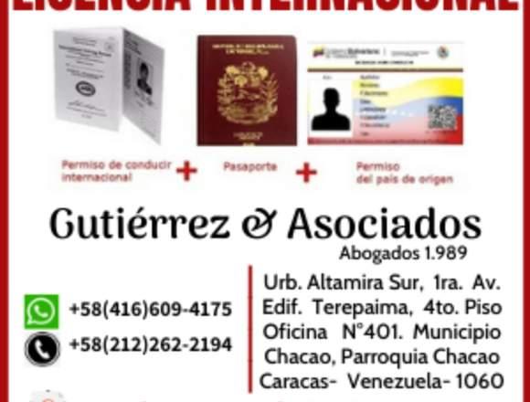 Licencia Internacional Conducir Venezuela