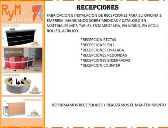 REMODELACION DE RECEPCIONES