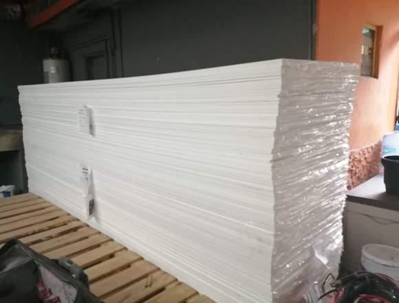 Placas corian 12mm Glacier White.