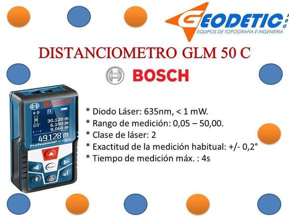 DISTANCIOMETRO MARCA BOSCH MODELO GLM 50 C