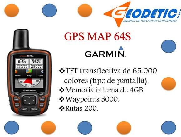 GPS marca Garmin modelo Map 64S