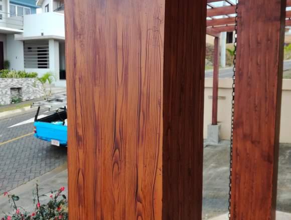 Servicio de construcción en simulación madera