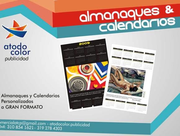 Almanaques y calendarios personalizados.