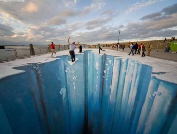 Arte Digital ilusión de perspectiva 3D. A pedidos