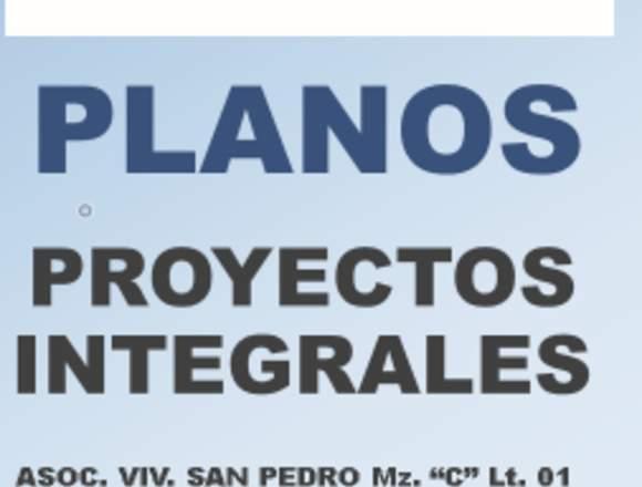 PLANOS - PROYECTOS - CONSTRUCCIONES EN GENERAL