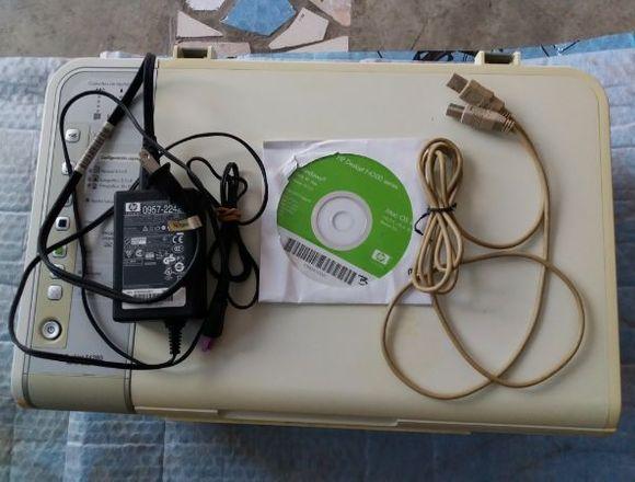 impresora hp con todos sus cables