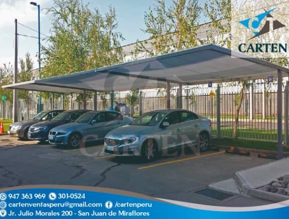 Modelos Variados Toldo Estacionamiento Carten Perú