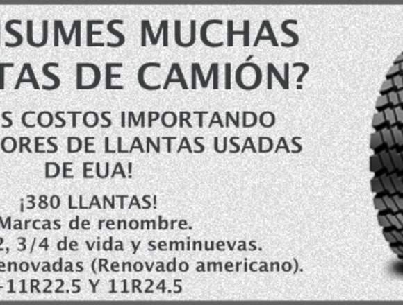 LLANTAS USADAS DE CAMION AL PORMAYOR